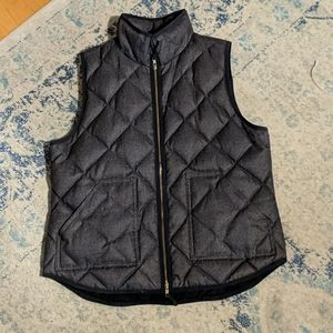 j.crew quilted down vest